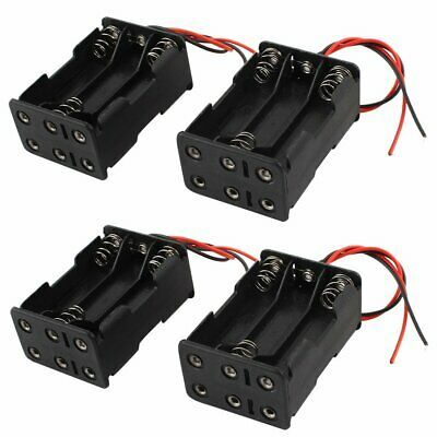 4 Pcs Dual Layers Battery Clip Holder Box Case Black For 6 X 1 5v Aaa Batteries Ebay Battery Holder Plastic Case Charger Accessories