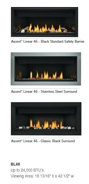 Napoleon Ascent Linear Direct Vent Gas Fireplace Fronts Burner 1