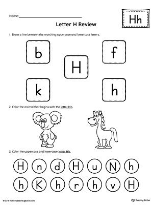 Pin On Odd Letter h worksheets for preschoolers