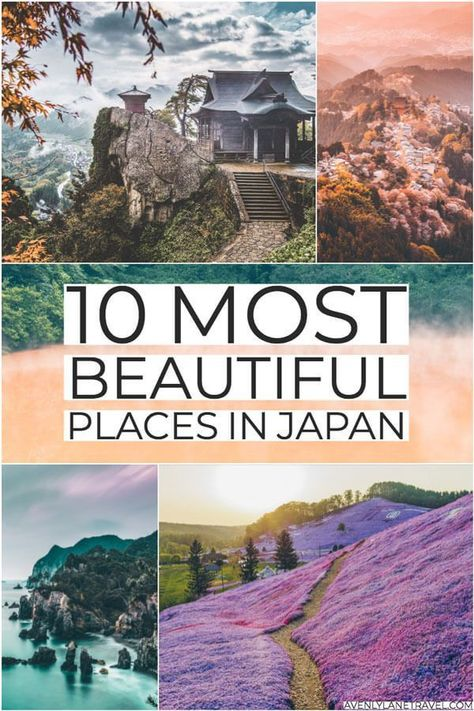 10 Most Beautiful Places in Japan! The perfect amount of travel inspiration for your Japan bucket list.  #avenlylanetravel #avenlylane #japan #japantravel #asia #islands