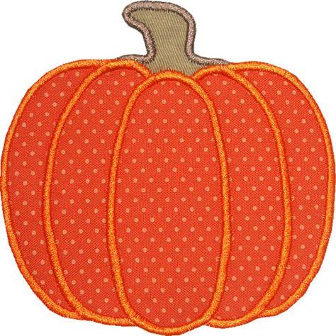 Free Pumpkin Applique Pattern   Harvest Pumpkin Applique Design