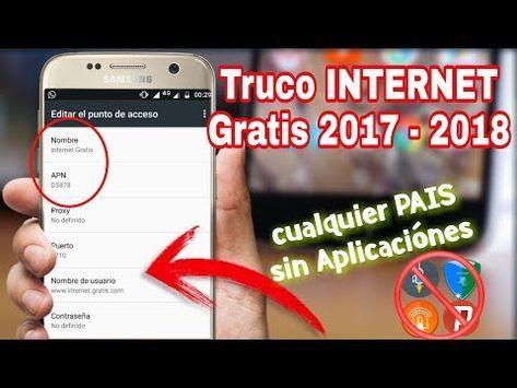 Cómo Tener Internet Gratis Para Siempre Cualquier Pais Y Compañia Funciona 100 15 12 2017 Y Como Tener Internet Trucos Para Android Wifi Contraseña
