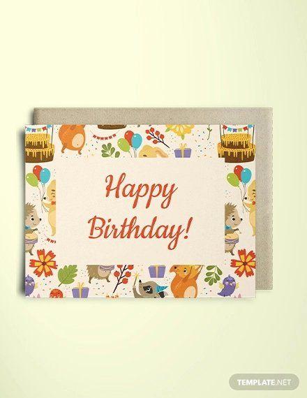 Birthday Card Template Photoshop Fresh 10 Best Premium Birthday Card Design Templates In 2020 Greeting Card Template Birthday Cards Birthday Greeting Cards