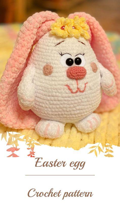 Amigurumi Easter bunny egg, crochet Easter egg pattern