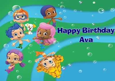 Bubble Guppies Frosting Sheet Edible Cake Topper on eBay!