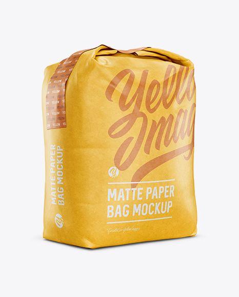 Download 1 Kg Matte Paper Bag Mockup Halfside View In Bag Sack Mockups On Yellow Images Object Mockups Mockup Free Psd Bag Mockup Mockup Psd