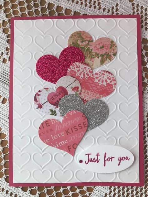 - - Best Picture For diy anniversary scrapbook For Your Taste You are looking for something, and it is going to tell you exactly what you Valentines Day Cards Handmade, Valentine Crafts, Greeting Cards Handmade, Valentine Greeting Cards, Tarjetas Stampin Up, Stampin Up Cards, Paper Cards, Diy Cards, Creative Cards