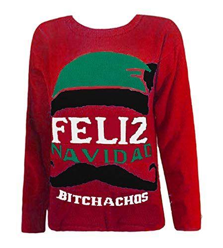 Womens Christmas Jumper Ladies Ho Ho Xmas Knitted Pullover Sweatshirt Crew Neck