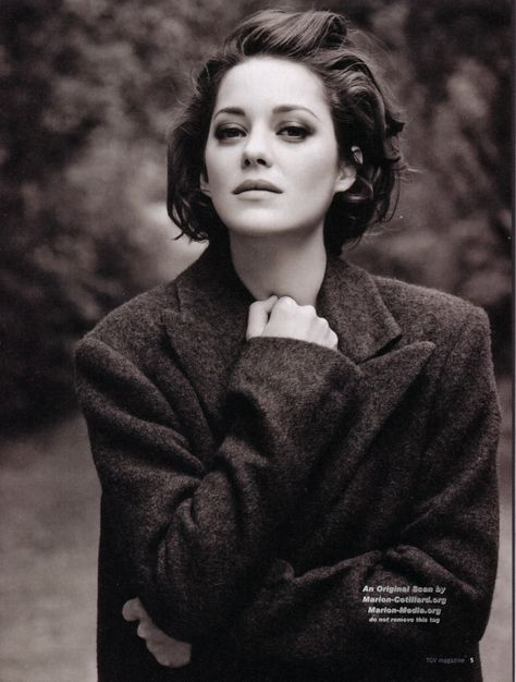 I know not the original source for this portrait of Marion Cotillard, but it is quite captivating. Her play with her hands against her face has always interested me.
