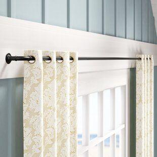 Fleur De Lis Living Talley Single Curtain Rod Wayfair Single Curtain Rods Curtains Room Darkening