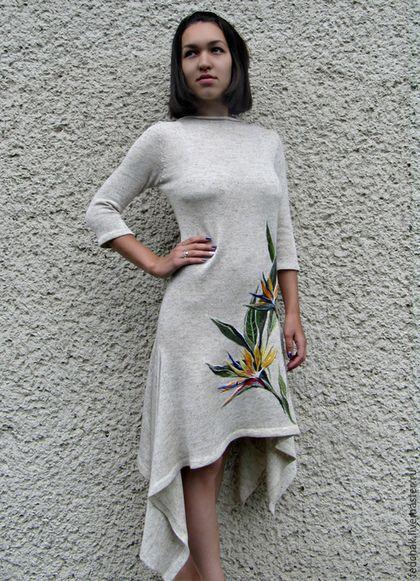 8a13e4930f51 Платья ручной работы. Ярмарка Мастеров - ручная работа. Купить Платье из  льна с ручной вышивкой. Handmade. Платье летнее, стрелиция