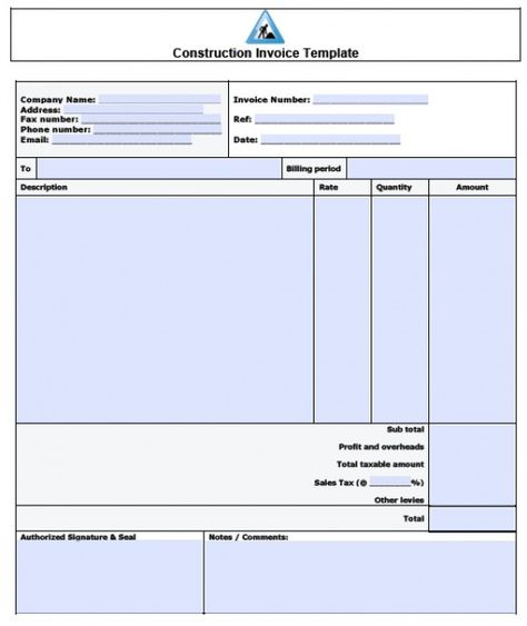 Pin by Excel Templates on Excel Template Pinterest Invoice - construction invoices