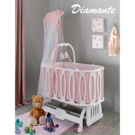 Круглая кроватка Diamante 54x92 Mamma - www.mebel-baby.ua - магазин детской  мебели в Киеве 283729ba8bf26