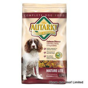 Autarky Salmon Mature Lite Dog Food 2 5kg Autarky Mature Lite Salmon Dog Food provides dogs with all of the nutrients that they need in a lower calorie package.