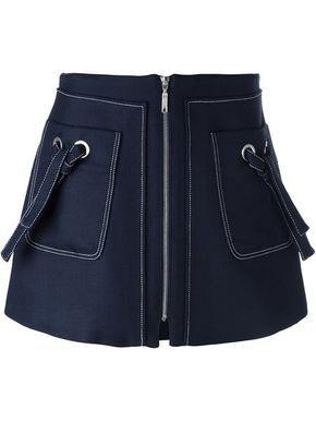 Shop Kenzo A-line zipped skirt.