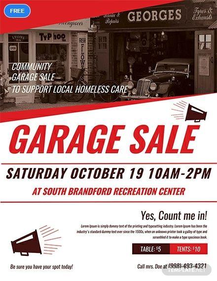 Community Garage Sale Flyer Template Free Jpg Illustrator Word Apple Pages Psd Publisher Template Net Community Garage Sale Garage Sales Sale Flyer