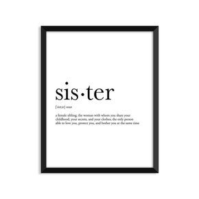sister definition siblings gift college dorm by footnotestudios