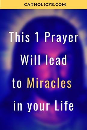 This One Prayer to Jesus and Mary will Lead to Miracles in