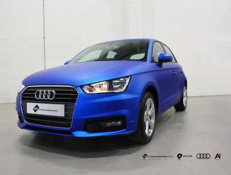 Audi A1 Arlon Blue Aluminium Personal Vehicle Wrap Project