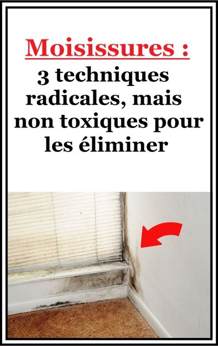 Moisissures 3 Techniques Radicales Mais Non Toxiques Pour Les Eliminer Moisissure Trucs Et Astuces Maison Nettoyage Joint De Carrelage