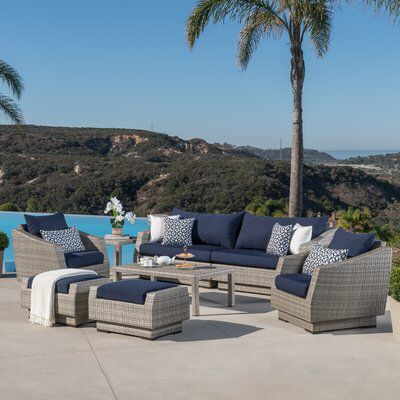 Alfonso 8 Piece Deep Seating Group With Cushion Outdoor Sofa Sets Conversation Set Patio Outdoor Sofa