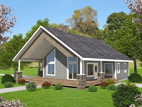 Hpm Home Plans Home Plan 001 3646 Small Lake Houses Cottage Plan Lake House Plans