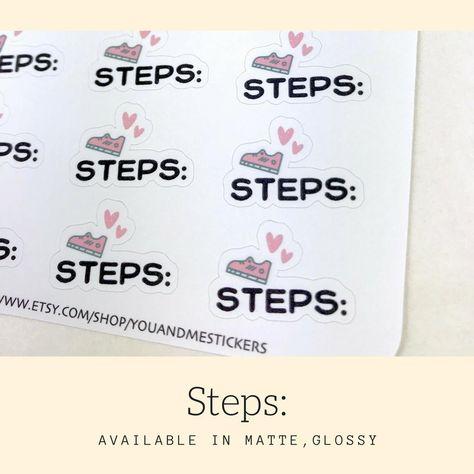 Fitness Stickers | Script Sticker | Erin Condren | HS44 - Glossy