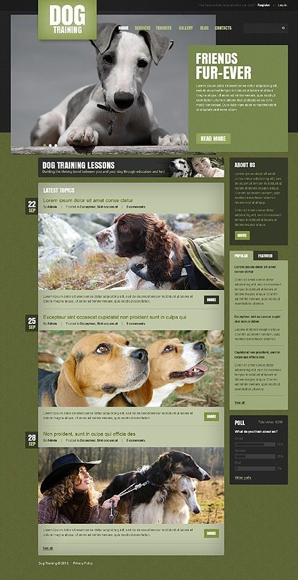Dog Drupal Template Drupal Themes Ideas Of Drupal Themes