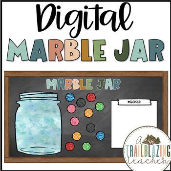 Digital Marble Jar Freebie In 2020 Marble Jar Jar Virtual Classrooms