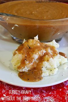 This easy to make Turkey Gravy is delicious with rich dark brown flavor.