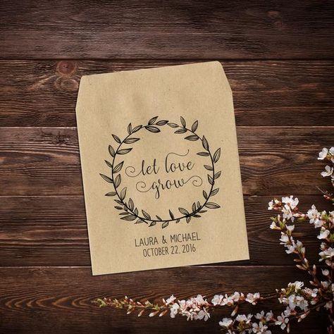 Seed Packets, Seed Wedding Favors, Seed Favors, #seedpackets #seedweddingfavors #seedfavors #seedfavorswedding #partyfavors #rustic #weddingfavors #letlovegrow #seedpacketfavor #wildflowerseeds #customseedbags #personalizedfavor #favorseedpacket