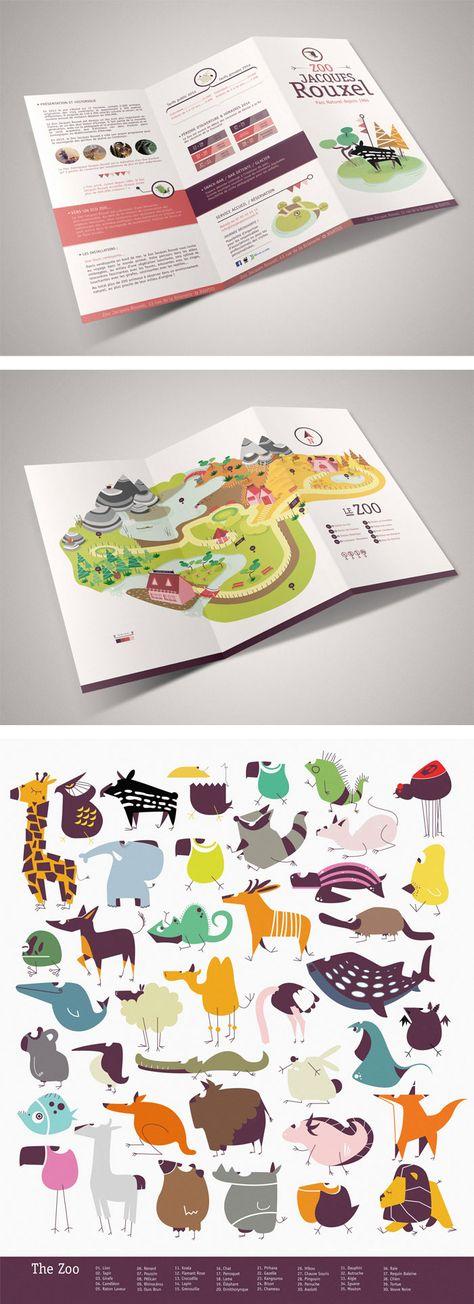 beautiful zoo brochure design   Alliteration Inspiration: Zoos & Zzz's