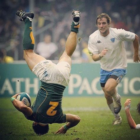 Tackled in the air - an illegal and highly dangerous move.