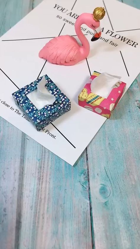 Use hard color paper to make a cute mini tissue box. when your friend visited your home, try to show to her! Save it, do it for yourself! Follow us, get more exciting and the idea!