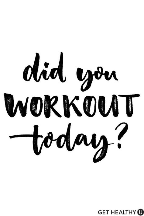 Well, did you? Check out Get Healthy U for fitness inspiration, healthy lifestyle advice, calorie-burning workouts, delicious recipes and start your health journey! Staying inspired is a super… Sport Motivation, Diet Motivation Pictures, Fitness Motivation Quotes, Health Motivation, Fitness Pictures, Lifting Motivation, Citations Sport, Calorie Burning Workouts, Tone It Up