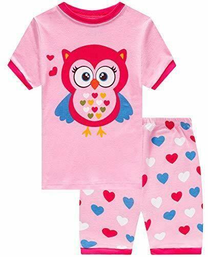 Little Pajamas Mermaid Sleepwear 100/% Cotton Summer Short Toddler Pjs Clothes Shirts