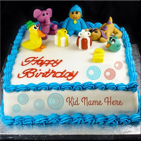 Free Train Birthday Cake With Your Kids Name And Photo Cake Happy