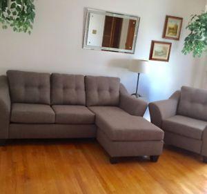 Mobilier De Salon Belisle Gris Sofa Et Chaise Home Decor Living Room Sectional Couch