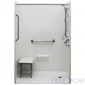 Freedom Accessible Shower Right Drain 5 Piece 54 X 31 In