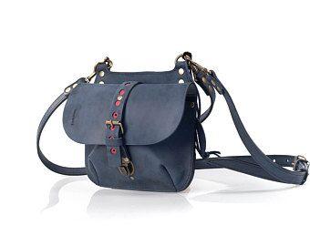 Leather Purse small Backpack crossbody Handbag original handbag stylish bag Molly S handmade leather purse Ladybuq art gift women bag