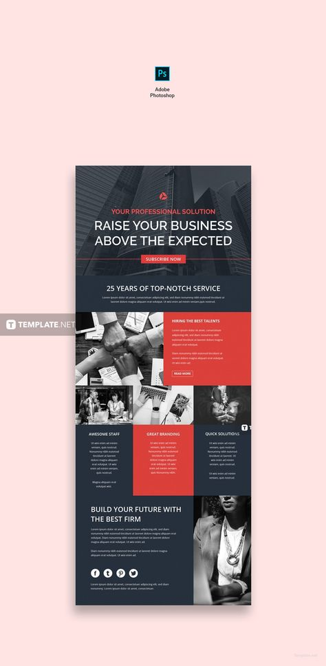 Corporate Email Newsletter Template - PSD | HTML5 | Outlook