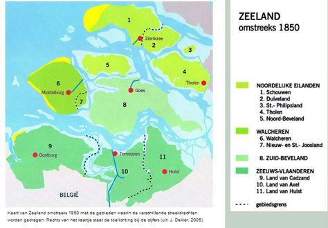 Noord Zeeuwse Eilanden Kaarten Eiland Nederland