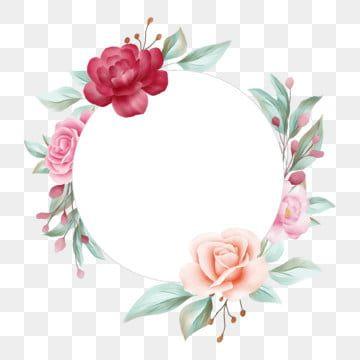 Gambar Bingkai Bunga Bulat Untuk Perkahwinan Atau Komposisi Kad Ucapan Perkahwinan Jemputan Bunga Png Dan Psd Untuk Muat Turun Percuma Ilustracao De Rosa Molduras De Casamento Molduras Decoradas