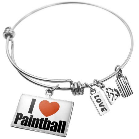 United States NEONBLOND Expandable Wire Bangle Bracelet I Love Austin Region Texas