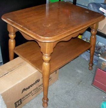 ethan allen coffee table and end tables