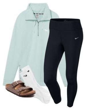"""""""Untitled #161"""" by lhnlila on Polyvore featuring Victoria's Secret, NIKE and Birkenstock by julia"""