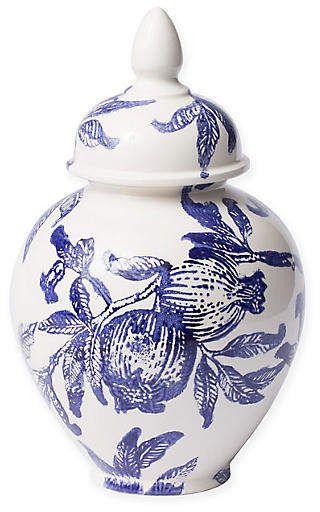 Vietri 13 Melagrana Small Jar Blue White
