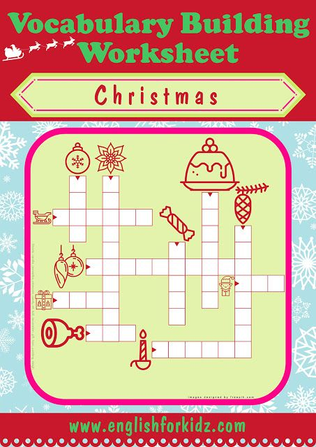 Pin On English Christmas worksheets matching words pictures