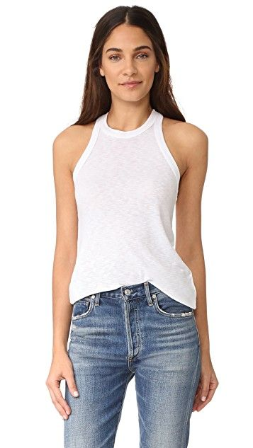 Splendid Womens Boardwalk Stripe One Shoulder Tank