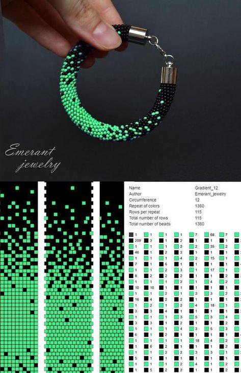 Bead crochet pattern ombre seed beads bracelet tutorial pdf beads master class jewelry making . - Bead crochet pattern ombre seed beads bracelet tutorial pdf beads master class jewelry making neckl -